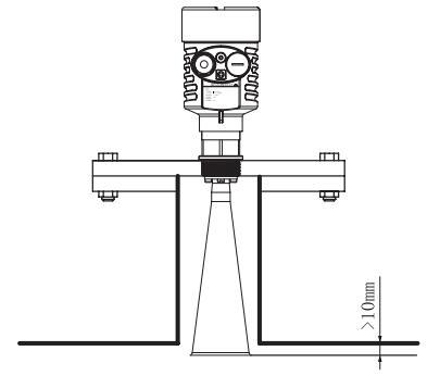 调频雷达物位/液位计安装图