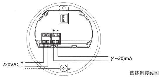 水滴天线雷达物位计四线制接线图