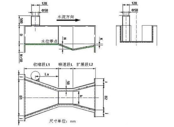 超声波明渠流量计外形尺寸图