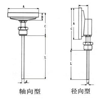 雙金屬溫度計軸向、徑向型