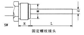 雙金屬溫度計固定螺紋管接頭
