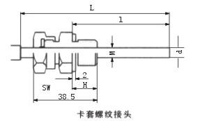 雙金屬溫度計卡套螺紋接頭