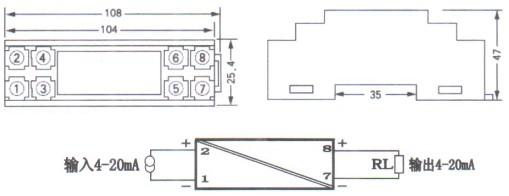 无源信号隔离器外形结构图
