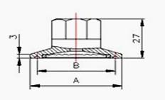 卫生型隔膜压力表法兰规格