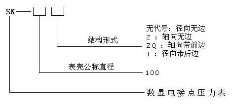 数显电接点压力表型号命名