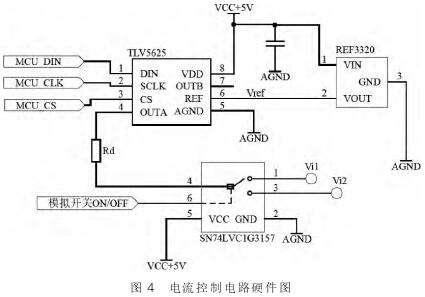 电磁流量计电流控制电路硬件图